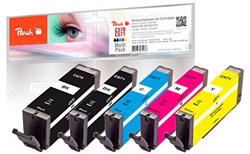 Peach Spar Pack Tintenpatronen kompatibel zu Canon PGI-570, CLI-571
