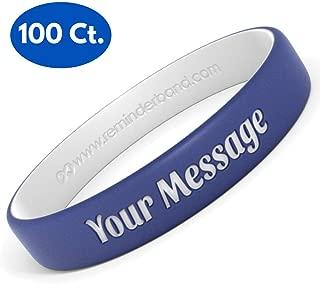 rubber bracelets custom cheap