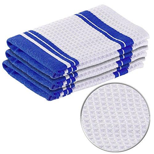 PEARL Geschirrtücher: Mikrofaser-Küchentuch zum Trocknen & Polieren, 3D-Waffelpiqué, 3er-Set (Handtuch für Küche)