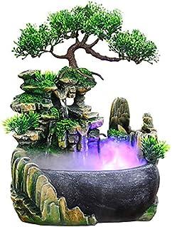 Fontaine d'intérieur Kaibrite - En résine - Style cascade - Avec changement de couleur - Éclairage LED - Pour la maison, l...