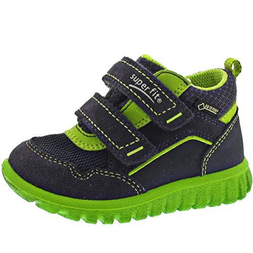 Superfit Baby Jungen SPORT7 Mini Sneaker, Blau (Blau/Grün 80 80), 24 EU