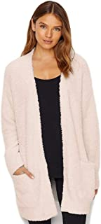 Barefoot Dreams CozyChic Women's So-Cal Cardi w/Pockets, Knit Open Cardigan