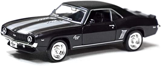 Tianmei 1:32 Scale Supercar Styling Alloy Die-Cast Car Model Collection Decoration Ornaments, Kids Play Vehicle Toys with Pull Back Action and Open Doors (Camaro 1969 - Black)