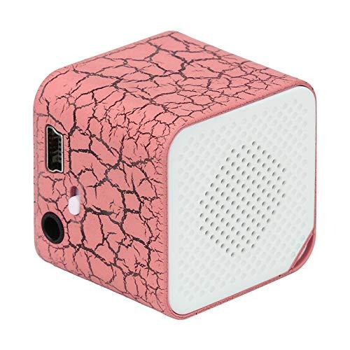 OLPvh MP3-speler mini-MP3-speler, USB, compatibel met Micro SD TF-kaart met 32 GB muziekmedia, 256M, Roze