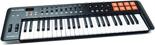 M-Audio Oxygen 49 IV - Clavier Maître MIDI 49 Touches avec 8 Pads Sensibles à La Vélocité et Boutons de Contrôles Ass...