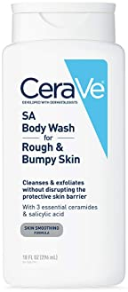 CeraVe Body Wash with Salicylic Acid | 10 Ounce | Fragrance Free Body Wash to Exfoliate Rough and Bumpy Skin