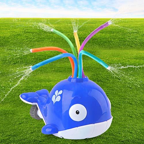 Deeabo Badewannenspielzeug, Sprüh Wasserspielzeug, Kinder Cartoon Whale Splash Wasser angetrieben Sprinkler Spielzeug Baby Bad Spielzeug Indoor Outdoor Garten Rasen Sprinkler Spielzeug, Blauwal