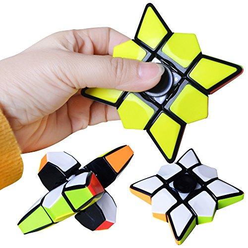 LAWARY Baby Puzzle Toy, Finger Puzzle Cube Spinning Cube Juguetes para niños Principiante