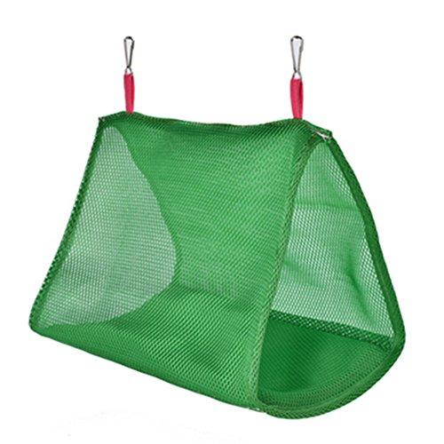 Danigrefinb huisdier benodigdheden voor vogels zomer papegaai vogels ademende hangmat opknoping grot kooi hut tent bed stapelbed speelgoed - groen S