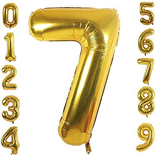 SYKJDM golden 42 inch number balloon a number balloon that can be used repeatedly Individually product image