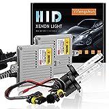 55W H7 Kit de conversión de xenón HID para automóvil con CANBUS y AC, balastos HID ultrafinos Inicio rápido Blanco xenón extremadamente brillante 6000K