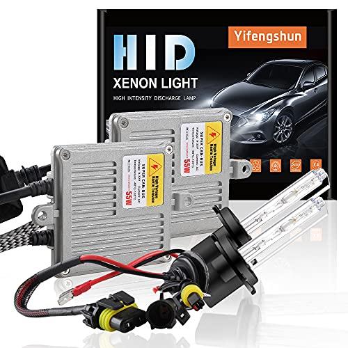 55W H7 Kit de conversion au xénon HID pour voiture Ballasts HID Avec Canbus et AC ultra-minces Démarrage rapide Blanc xénon extrêmement lumineux 6000K
