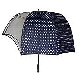 syxz ombrello a cupola a forma di casco antivento, ombrello a cappello, parasole a cupola per coppia, ombrello da golf trasparente,b