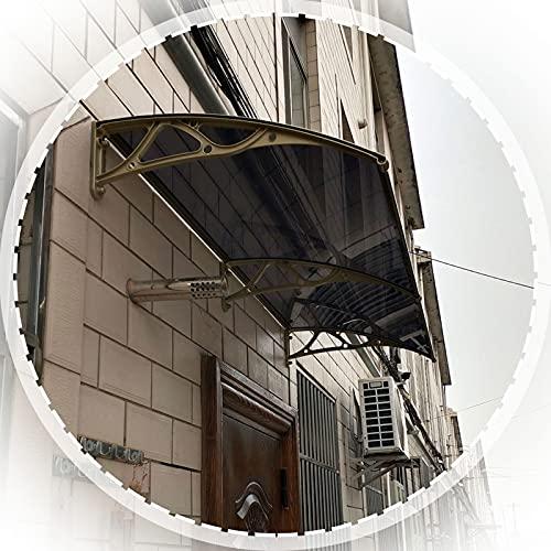 Marquesina Puertas Exterior, Panel De Policarbonato De Arco con Soporte De Aleación De Aluminio, Cubierta De Patio Protección contra La Lluvia Y La Nieve (Size : 60x80cm)
