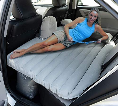 OLIVIA & AIDEN Inflatable Car Air Mattress with Pump (Portable) Travel, Camping, Vacation | Back Seat Blow-Up Sleeping Pad | Truck, SUV, Minivan | Compact Twin Size