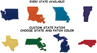 Custom State Iron On Patch-ALL 50 STATES AVAILABLE-Choose Your Color!