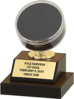 hockey puck trophy
