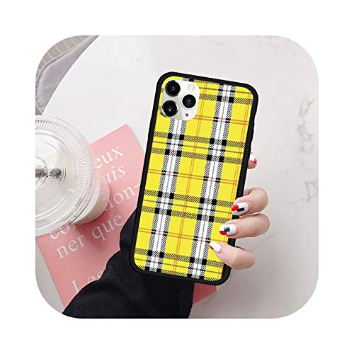 Fashion Brand Blue Phone Case For iPhone 7 11 Pro 12 XR XS MAX X 8 SE20 6 Plus Silicona Hard Cover Lavender Plaid Fundas-Style 5-For iPhone XS