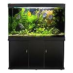 MonsterShop-300-Liter-Heimaquarium-Aquarium-mit-Unterschrank-Aquariumkobination-Schwarz-1435cm-H-x-1205cm-B-x-39cm-T