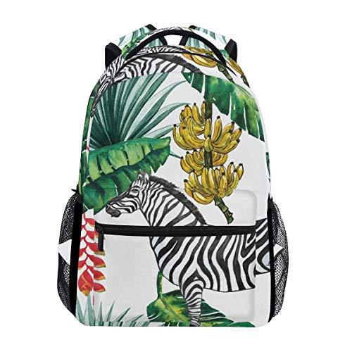 poiuytrew Selva Tropical con Mochila de Cebra Bolsos de Hombro para Estudiantes Mochila de Viaje Mochilas Escolares