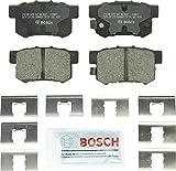 Bosch BC537 QuietCast Premium Ceramic Disc Brake Pad Set For: Acura CL, CSX, ILX, RSX, TL, TSX, Vigor; Honda Accord, Civic, CR-Z, Prelude, S2000; Suzuki Kizashi, SX4, Rear