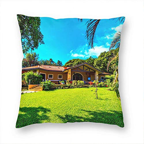 Panama Pillow Case Decorative Cushion Cover Pillowcase Sofa Chair Bed Car Living Room Bedroom Office 18'x 18' KXR-4567