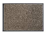 ASTRA strapazierfähige Schmutzfangmatte Perle – rutschfeste Türmatte – Fußmatte für den Innenbereich – Eingangsmatte – Vorleger (Taupe 80x120cm)