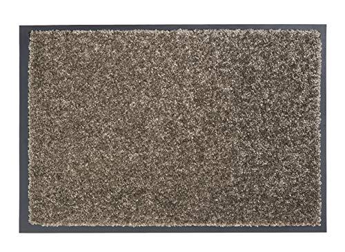 ASTRA strapazierfähige Schmutzfangmatte Perle – rutschfeste Türmatte – Fußmatte für den Innenbereich – Eingangsmatte – Vorleger (Taupe, 60x80cm)
