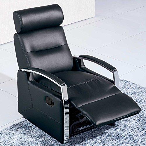 Ades - Sillón relax reclinable modelo DUCAL color Negro