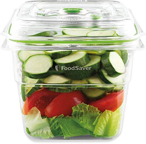 FoodSaver Contenitore Salva Freschezza per Sottovuoto da 1.8 l, BPA Free, Indicatore del Vuoto, Trasparente