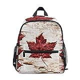 Mochila Escolar Retro con diseño de la Bandera de Canadá para niños y niñas