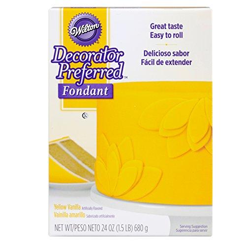 Wilton Decorator Preferred Yellow Fondant, 24 oz. Fondant Icing
