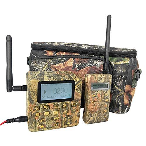 SovelyBoFan Señuelo de caza al aire libre llamador de pájaros 100W altavoz fuerte sonidos voces reproductor de MP3 200DB 500M mando a distancia color camuflaje