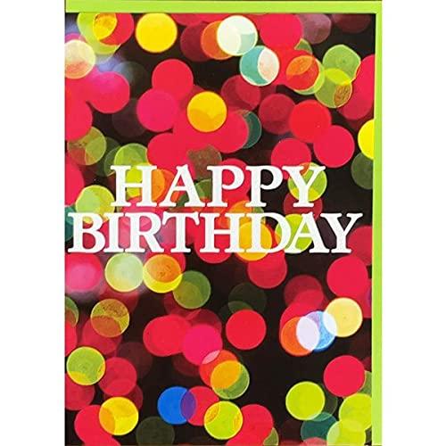 グリーティングカード 誕生日/バースデー TRACKSマジック「カラフルドット」 メッセージカード ラメ入り封筒付き
