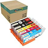 Win-tinten 5 Pack Color Inks Replacement for Canon PGI-220 CLI-221 Ink Cartridge for PGI-520 Ink for Canon PIXMA IP3600 IP4600 MP540 MP620 MP630 MP980 MX860 IP4700 Printers