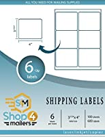 Shop4Mailers 6-Up White Shipping Labels 3 1/3 x 4~500 Sheets 3000 Labels [並行輸入品]