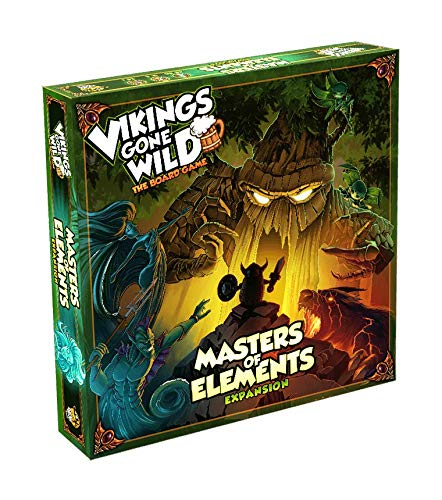 Lucky Duck Games LKY009 Vikings Gone Wild: Masters of Elements Expansion - Brettspiel - Englisch