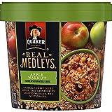 Quaker Real Medleys Oatmeal+, Apple Walnut, Oatmeal Cups, 12 Count