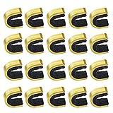 Gobesty Nock Punkte Bogenschießen, 20 Stück Messing Bogen Schnur Schnalle Clip, Bogenschnur Nockpunkte Saiten Nock Set für Verbindung und Recurve Bogen