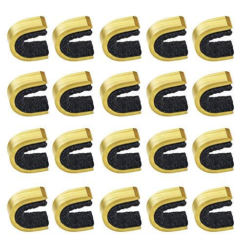 20 Piezas Puntos Nock Puntos de Encoque, Puntos de Culatín de Cuerda de Arco de Latón Clip de Hebilla Accesorios de Tiro con Arco para Arco Compuesto y Recurvo