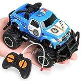 BeebeeRun Mini Auto Telecomandata Macchina della Polizia, Auto RC ,Ideale Regalo Giocattolo per Bambini Ragazzo Ragazza3 4 5 Anni(Blu)