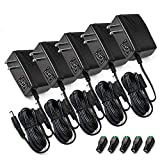 [UL Listed] Chanzon 12V 2A 24W AC DC Switching Power Supply Adapter (Input 100-240V, Output 12 Volt 2 Amp 24 Watt 6Ft Cord) Wall Wart Transformer Charger for DC12V CCTV Camera LED Strip Light (5-Pack)