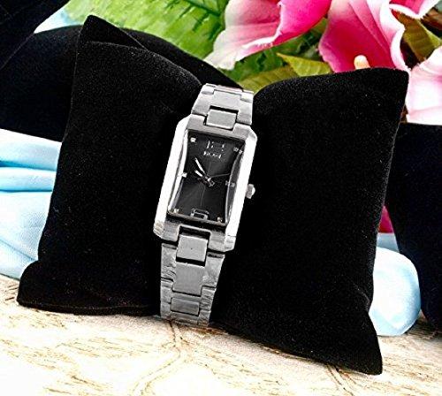 Ecloud Shop® 5X Expositor Exhibidor Display Cuadrado Terciopelo Reloj Pulsera Negro