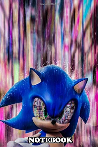 Notebook: Sonic The Hedgehog Surrounded By Glowing Lights T , Journal for Writing, College Ruled Size 6