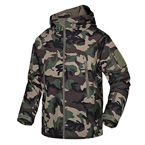 Herren Softshell Jacken Militär wasserdichte Fleece Winter Outdoor Reißverschluss Hoodie Jacken