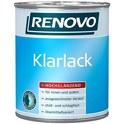 2,5 Liter RENOVO Klarlack hochglänzend für außen und innen