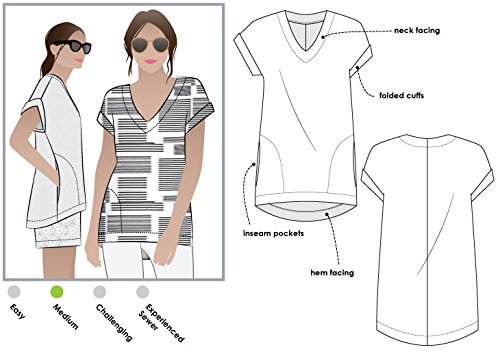 Style Arc Sewing Pattern - Elani Tunic (Sizes 04-16) - Click for Other Sizes Available