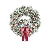 Easyeeasy Árbol de Navidad Escultura giratoria Tren Decoraciones Pegar Ventana Pegar pegatinas Tipo J Decoraciones navideñas para el hogar
