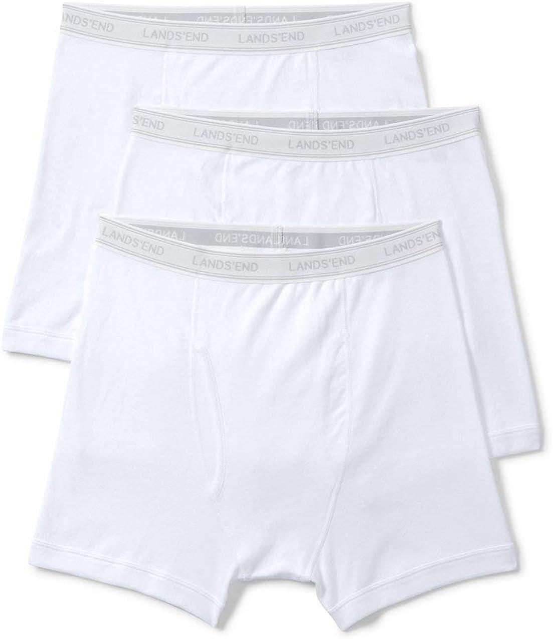 Lands' End Men's Knit Underwear 3 Pack - Boxer Briefs