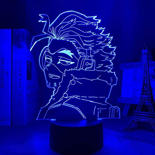 Lámpara de ilusión 3D Luz de noche Led Anime Byakuya Togami Danganronpa Iluminación Lámpara de mesa Mesita de noche Escritorio Decoración de oficina